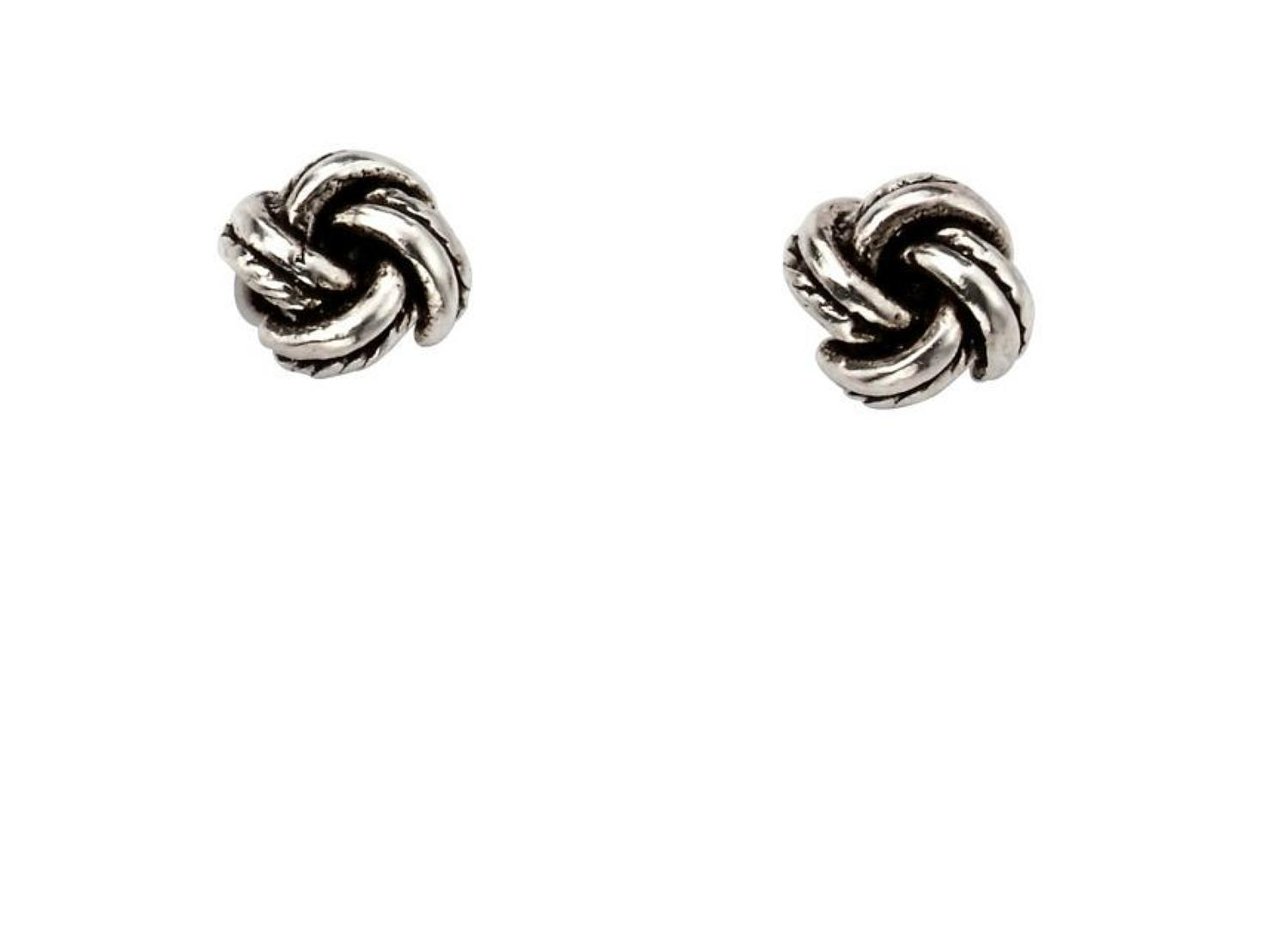Sterling Silver Small Knot Stud Earrings