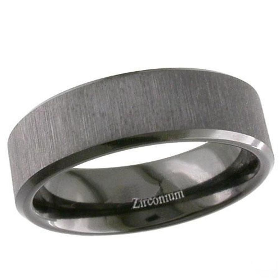 Zirconium Ring, Linished Finish