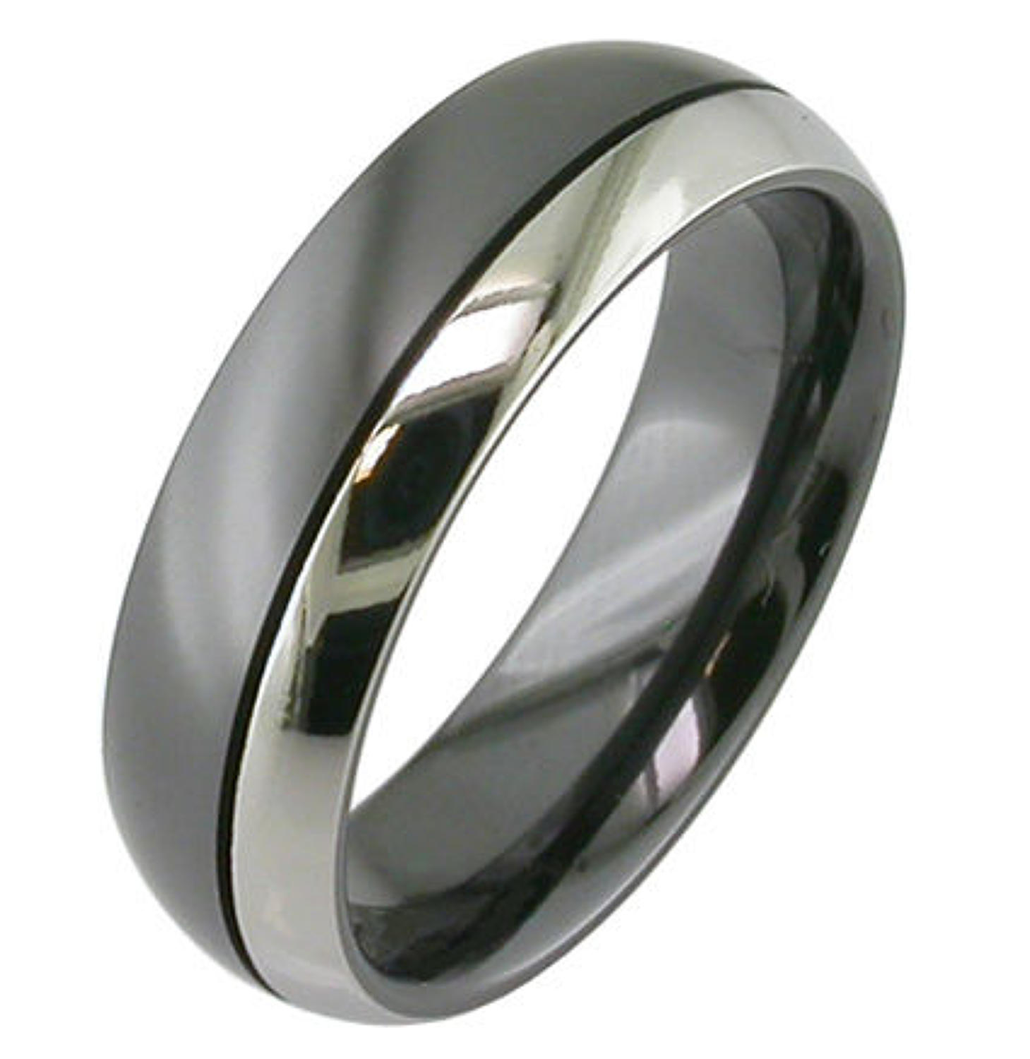 Dual Colour Zirconium Ring