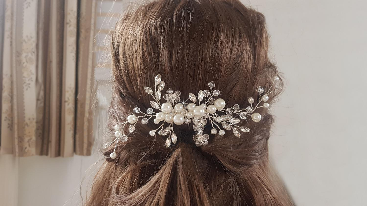 Pearl & Crystal Hair Comb