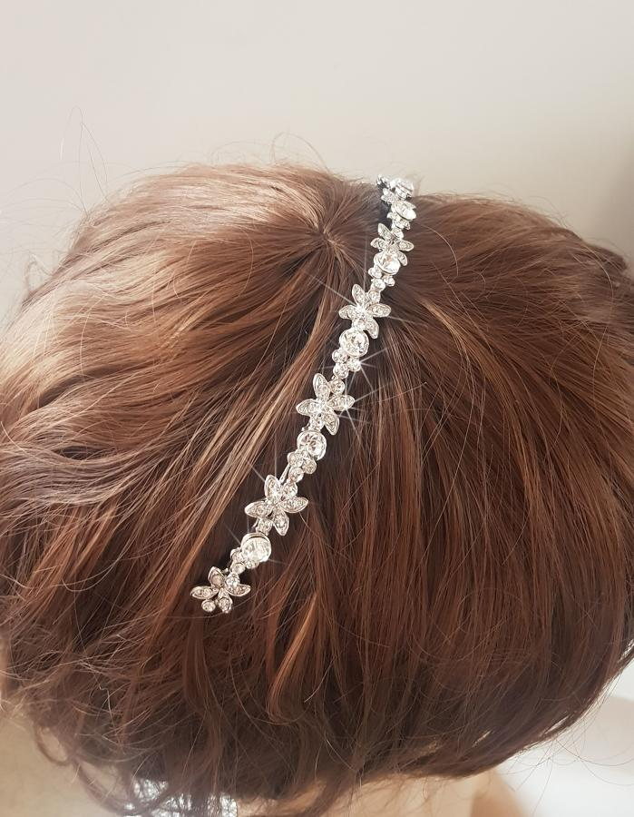 Crystal Flower & Round Head Band