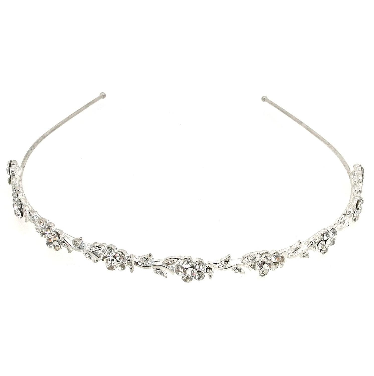 Crystal Flower & Leaf Head Band