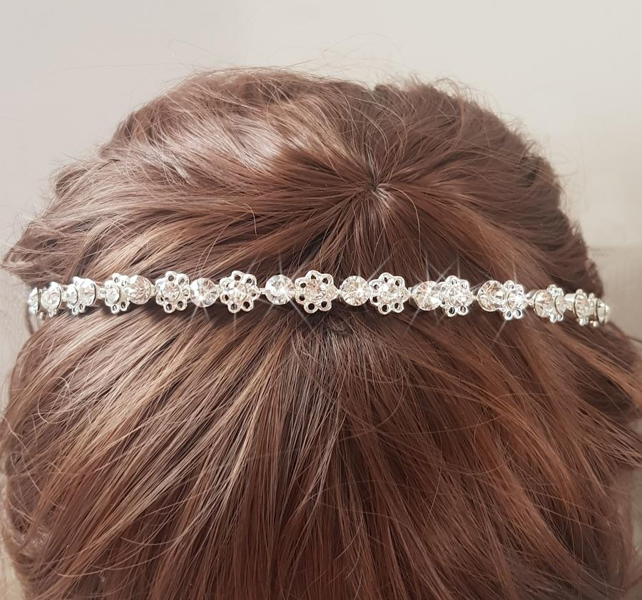 Crystal Dainty Flower & Round Crystal Head Band