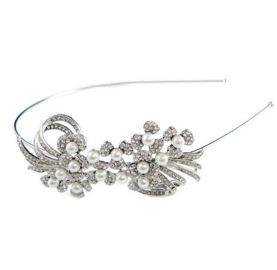Vintage Style Crystal Side Head Band