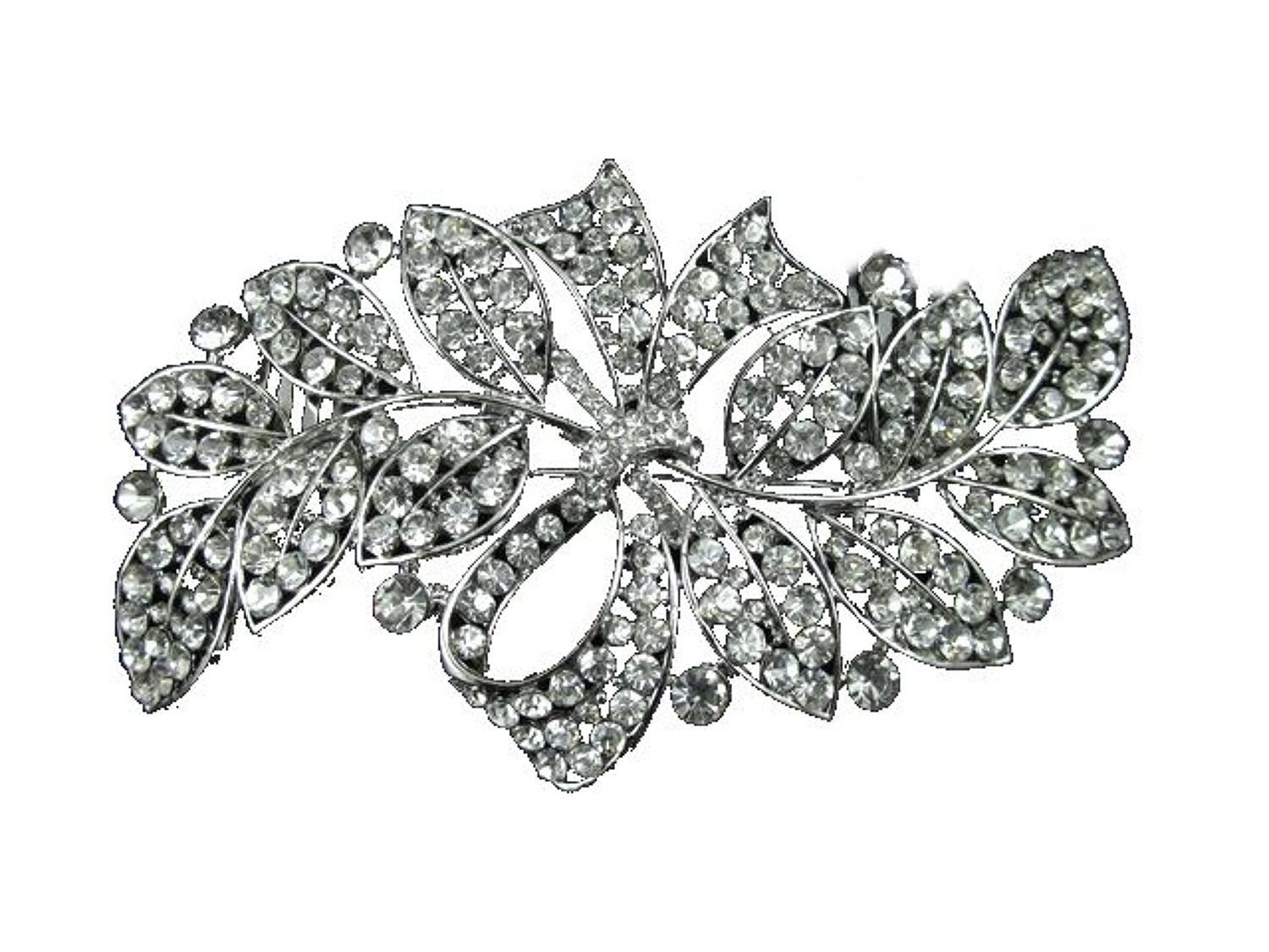 Crystal Leaf Hair Comb