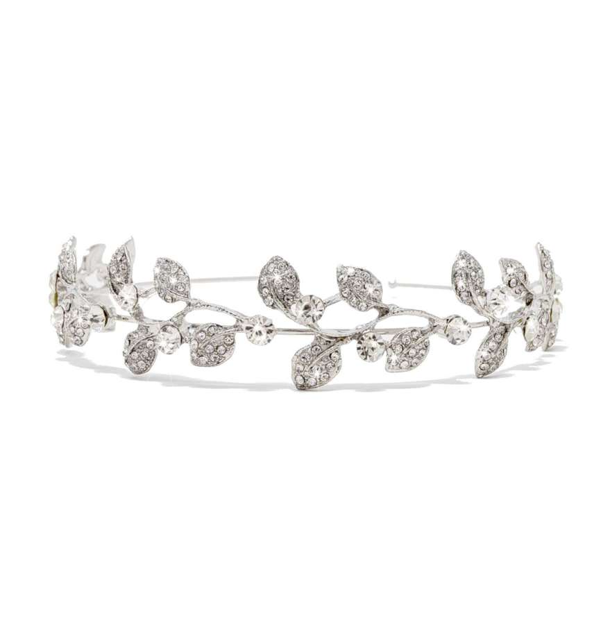 Nylah Crystal Leaf Entwine Head Band
