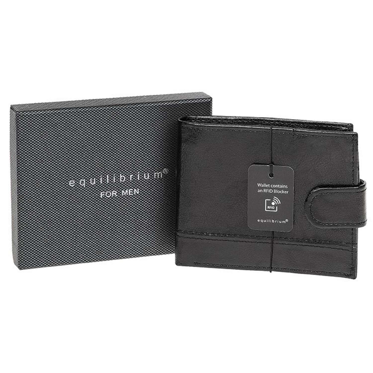 Black Wallet With RFID Blocker