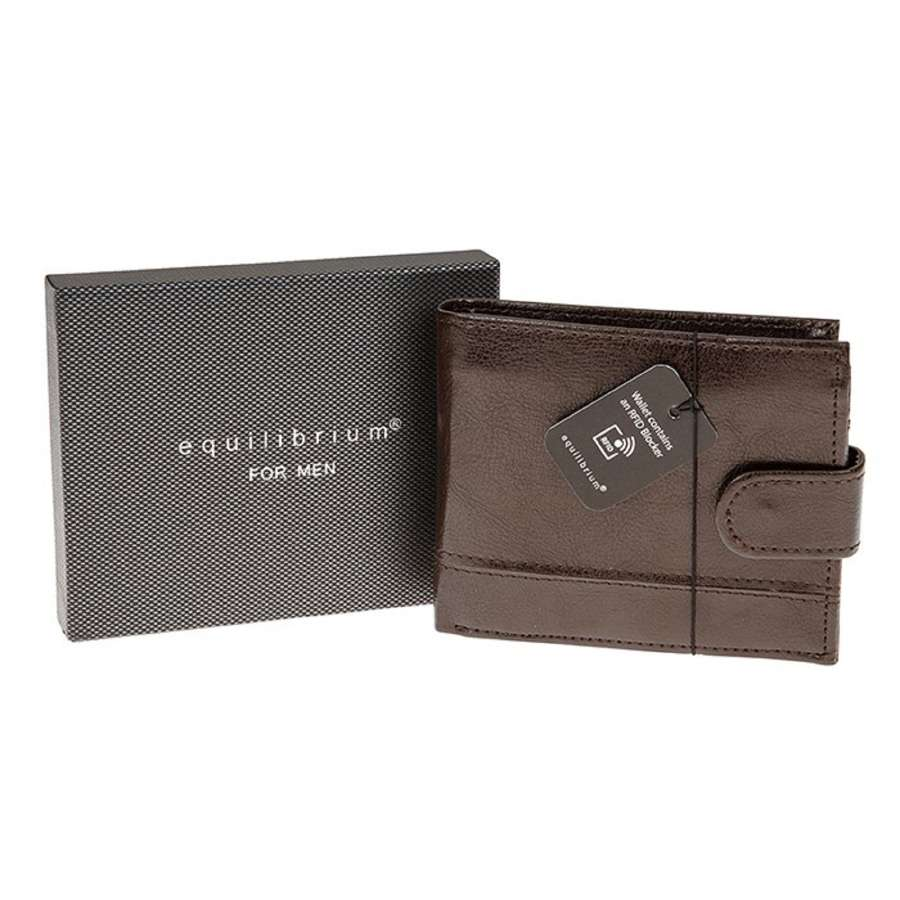 Brown Wallet With RFID Blocker