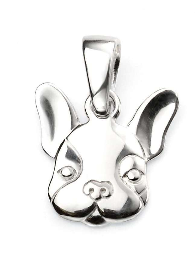 Sterling Silver French Bulldog Pendant